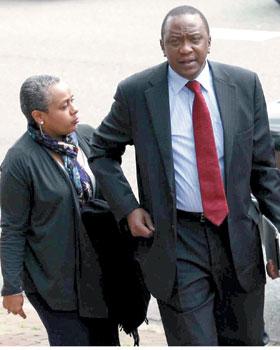 Margaret Kenyatta with husband, President elect, Uhuru Kenyatta.