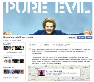 FB screenshot Margaret Thatcher