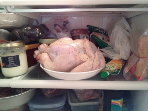 chicken in fridge