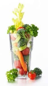 Glass of mixed veggies