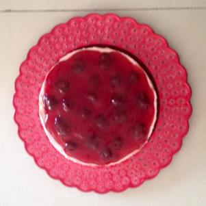 Eggless Strawberry Cheesecake