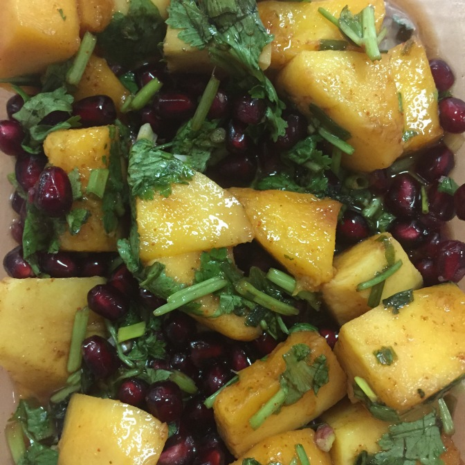 Spicy Mango and Pomegranate Salad